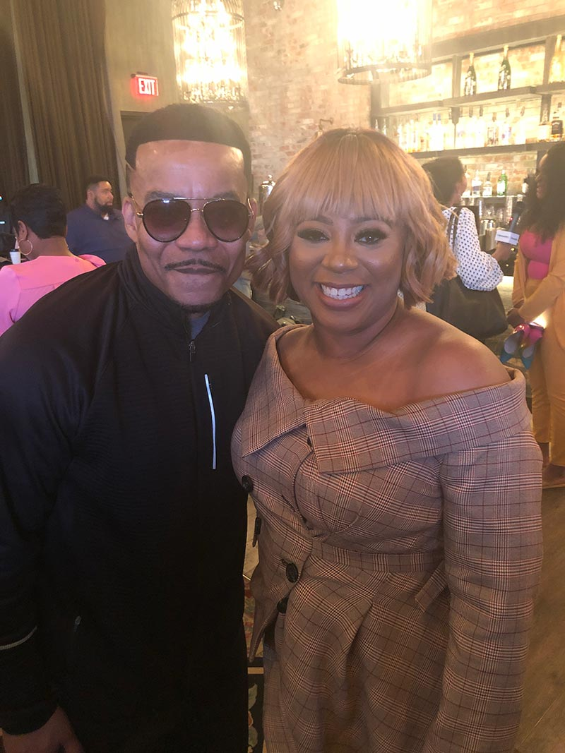 Benita Jones with fan